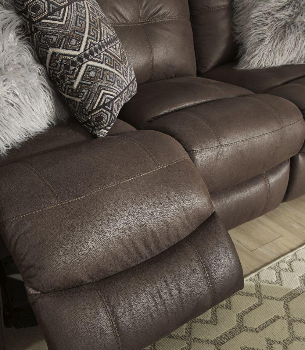 Abiquiu Reclining Sofa - Coffee - Recline Detail