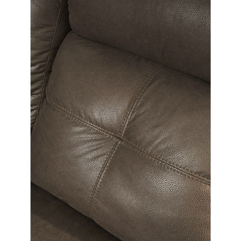Abiquiu Reclining Console Loveseat - Coffee - Lifestyle - Cushion Detail