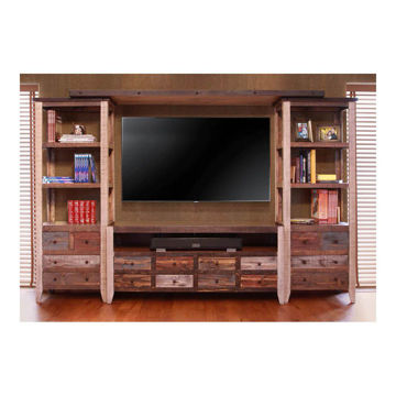 Sunset Multi-Color 4-Piece Entertainment Wall