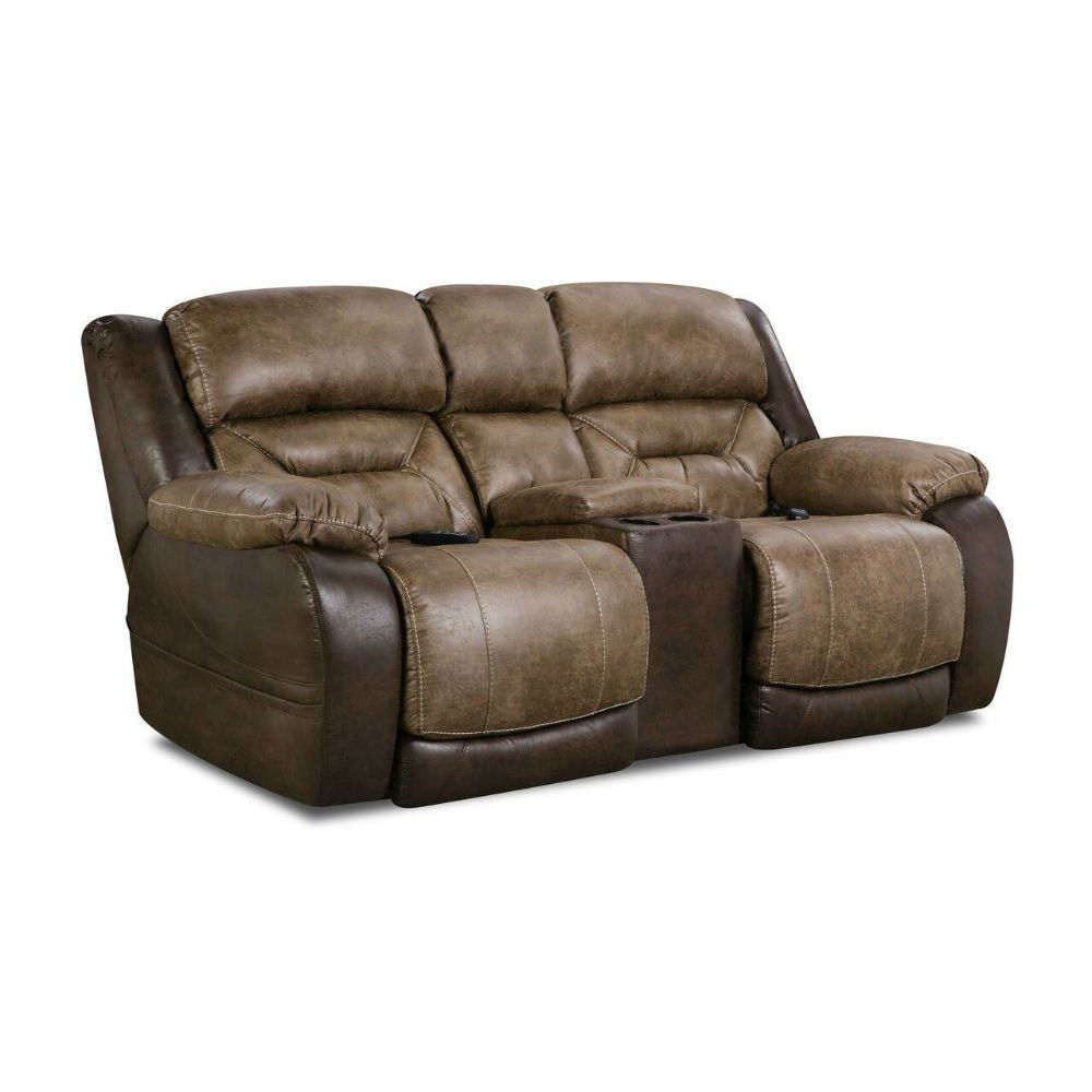 Gallop Power Reclining Console Loveseat