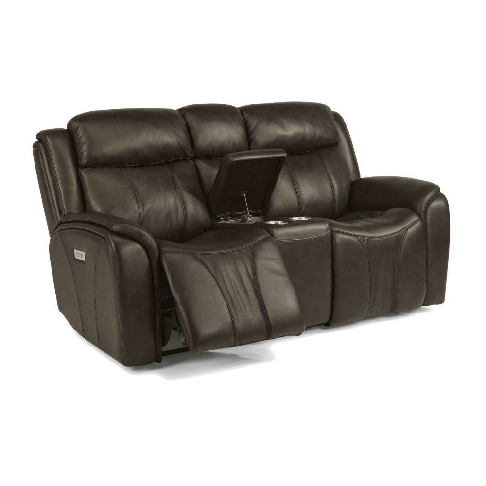Prince Power Console Reclining Loveseat - Open