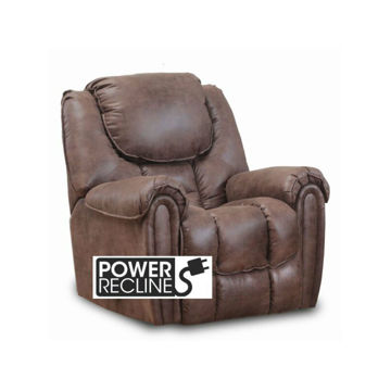 Wilton Mocha Power Rocker Recliner