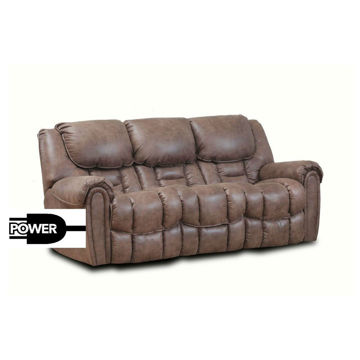 Wilton Mocha Double Reclining Power Sofa