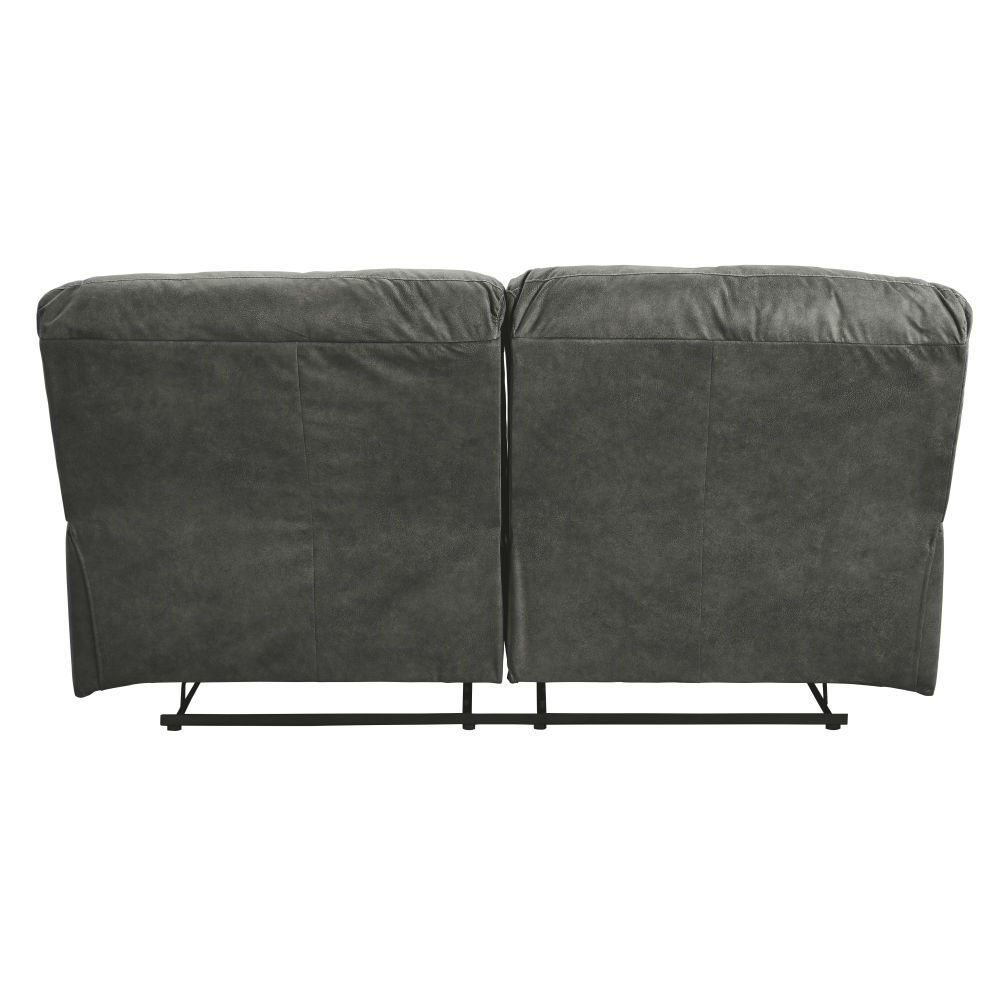 Baca Reclining Sofa - Slate - Rear