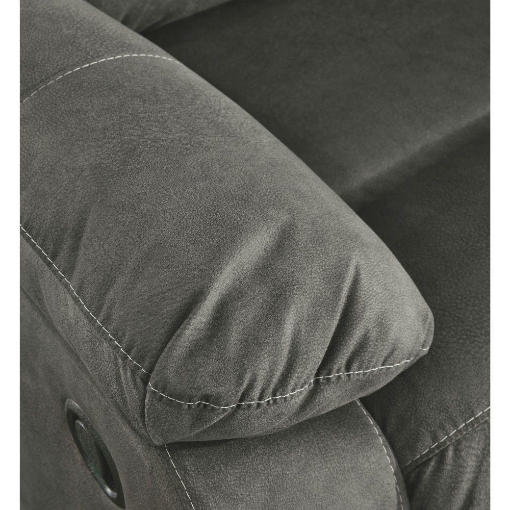 Baca Reclining Sofa - Slate - Arm Detail