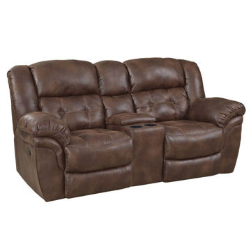 Washington Espresso Reclining Console Loveseat