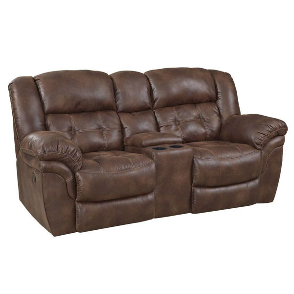 Picture of Washington Espresso Reclining Console Loveseat