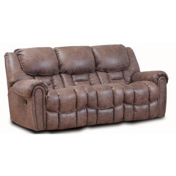 Wilton Mocha Double Reclining Manual Sofa