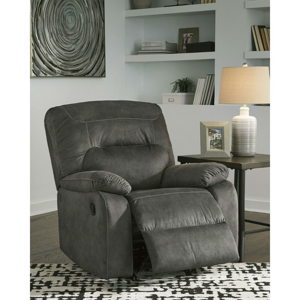 Baca Rocking Recliner - Slate - Lifestyle Open