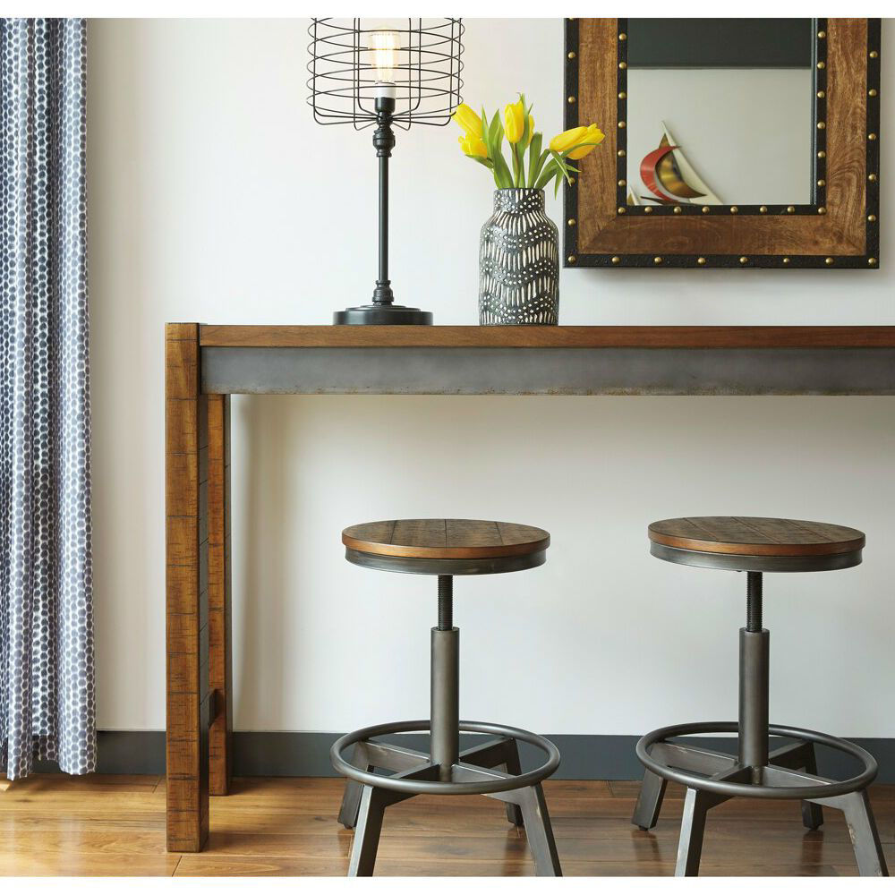 """Tojin 24"""" Stools and Table - Lifestyle"""