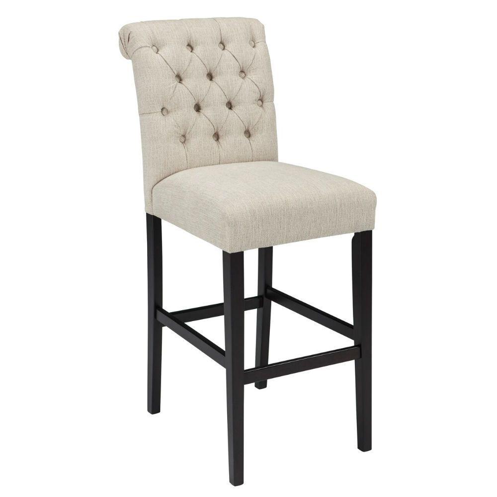 """Tripton 30"""" Upholstered Counter Stool - Linen"""