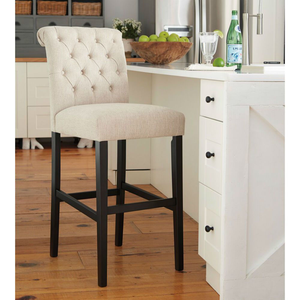 "Tripton 30"" Upholstered Counter Stool - Linen - Lifestyle"