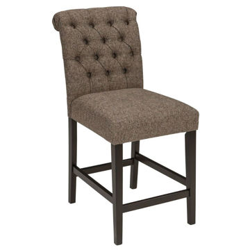 "Tripton 24"" Upholstered Stool - Graphite"