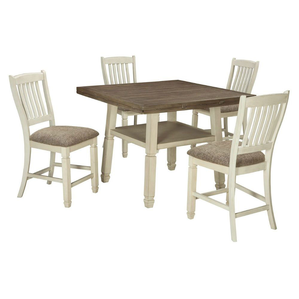 Olympia 5-Piece Drop-Leaf Dining Set - Leaves up