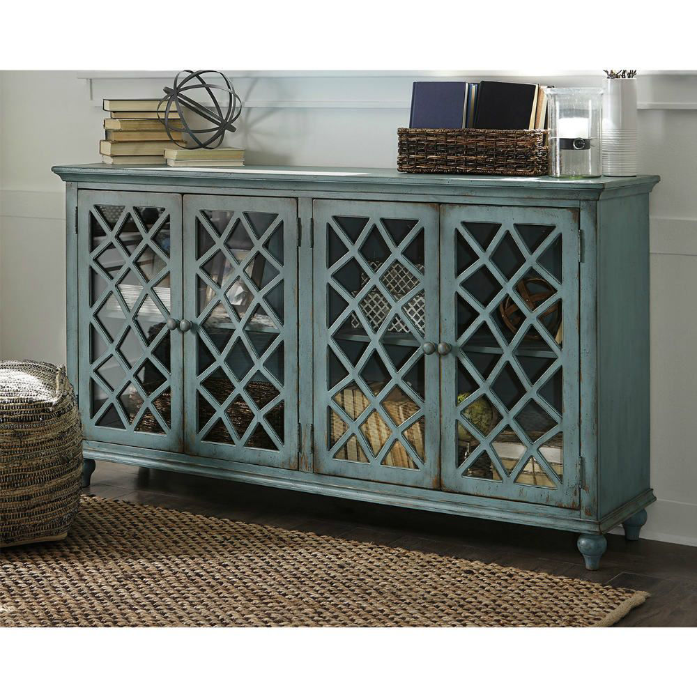 Tesuque Console - Teal - Lifestyle