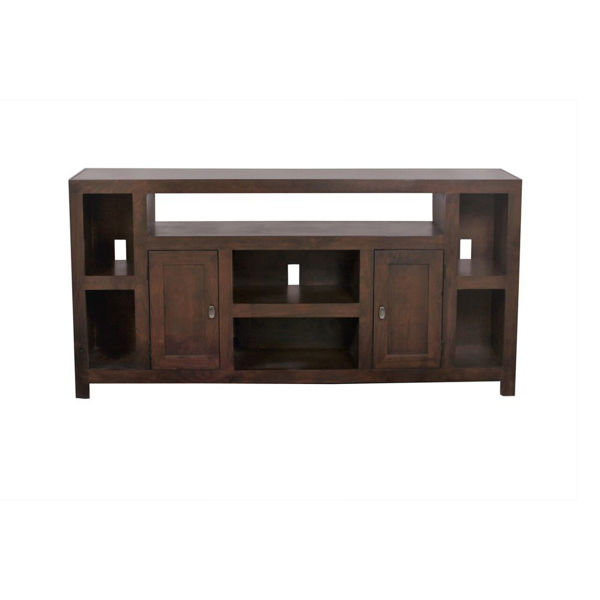 "Tribeca 64"" Cafe Brown Console"