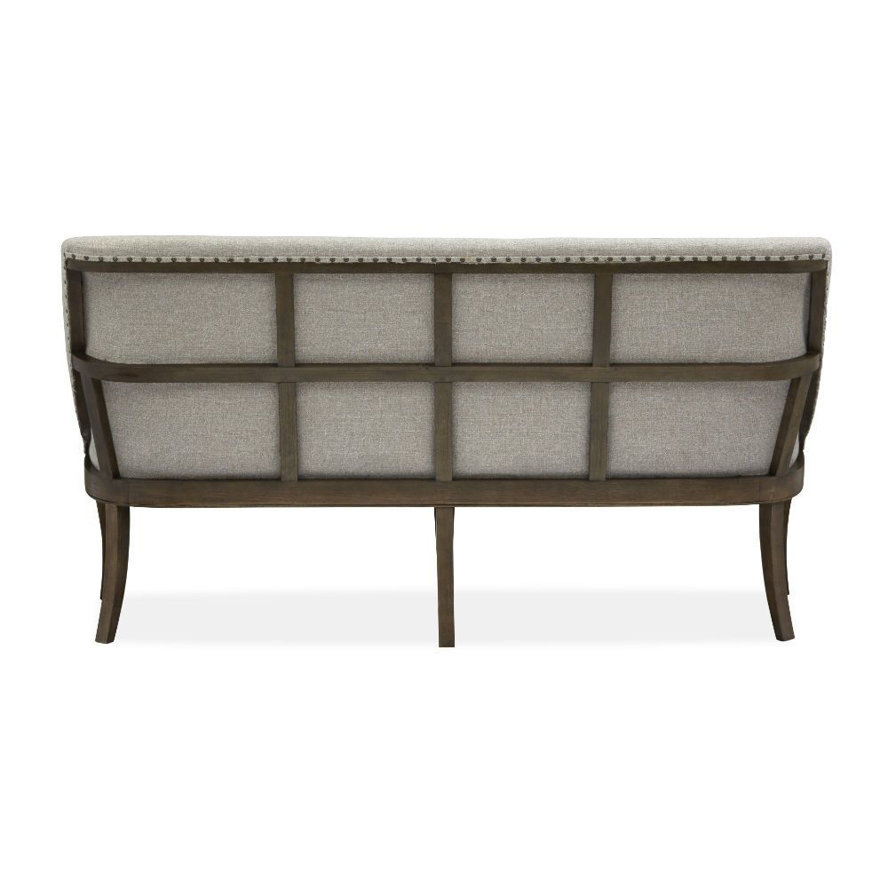 Roxbury Manor Upholstered Dining Bench - Rear