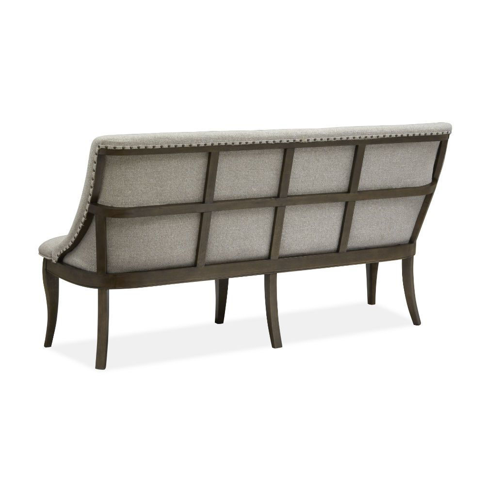 Roxbury Manor Upholstered Dining Bench - Rear Angle