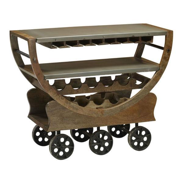 Guru Wheeled Wine Cart