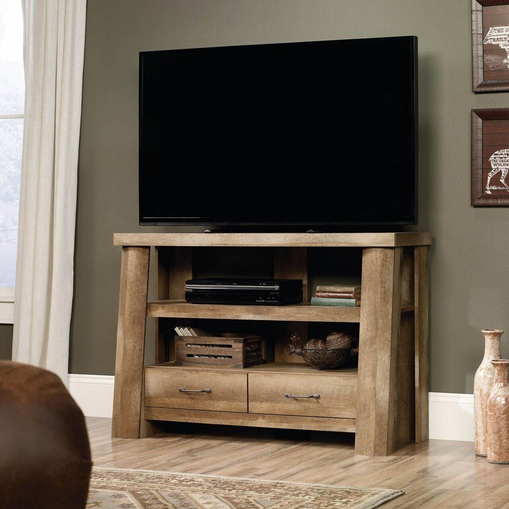 Boone Mountain Anywhere Console - Craftsman Oak - Lifestyle - TV Not Included