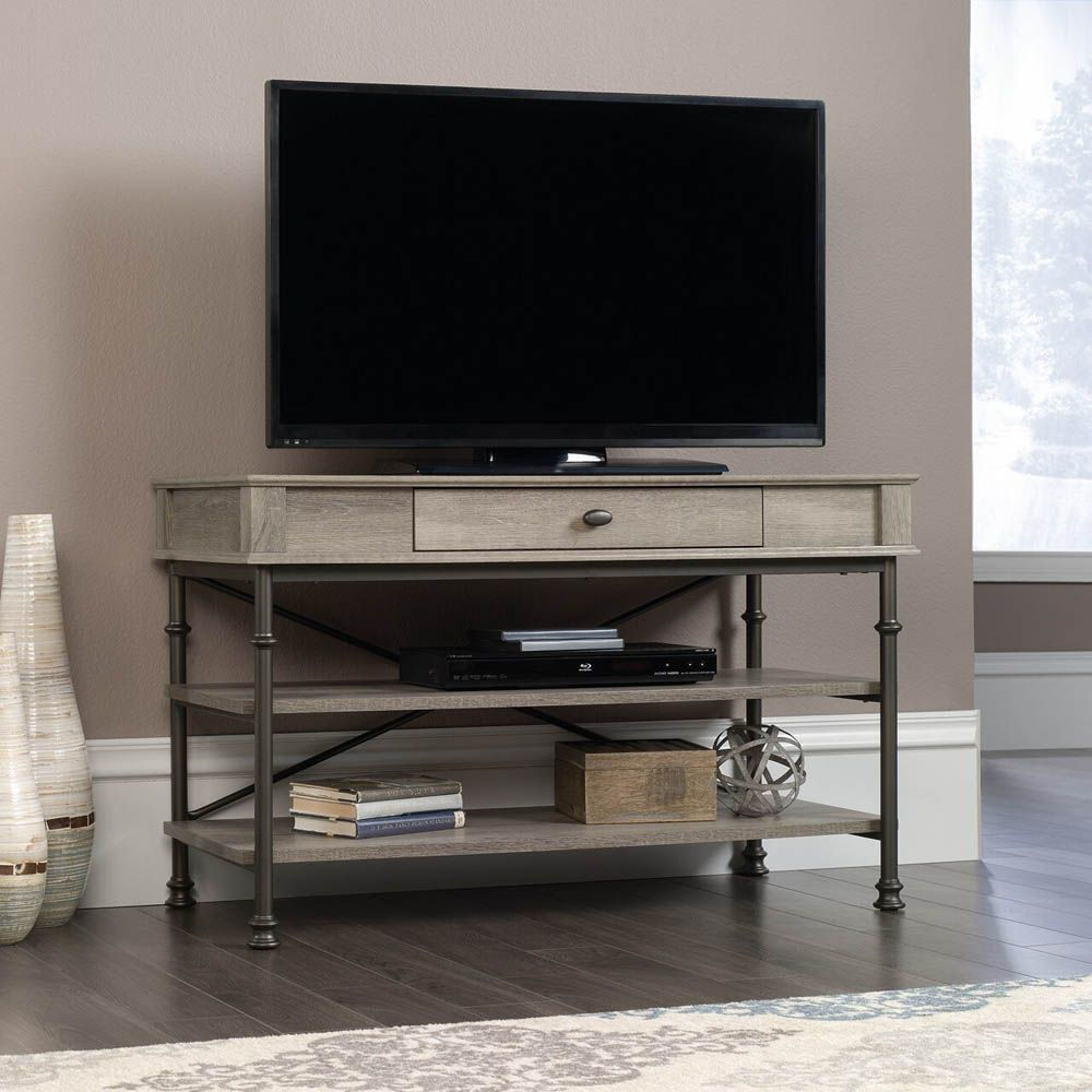 Canal Street TV Stand - Northern Oak - Lifestyle - TV Not Included