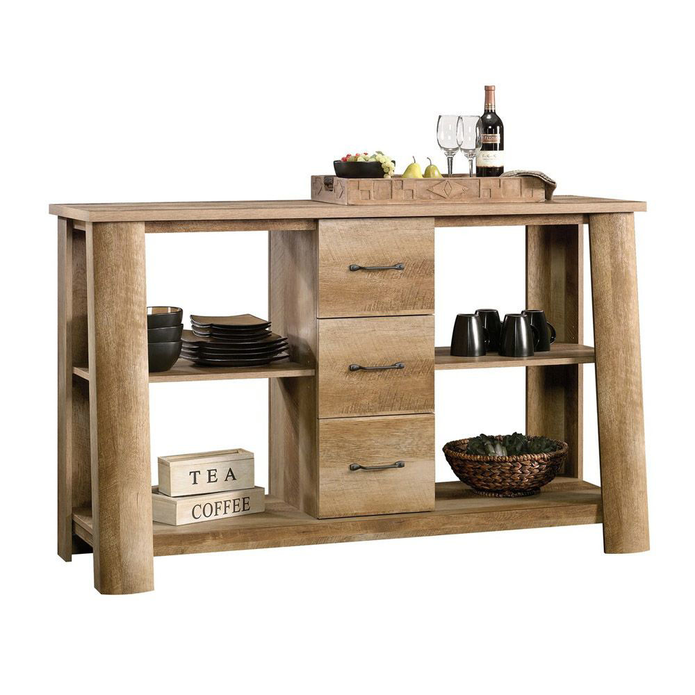 Boone Mountain Credenza - Craftsman Oak - Decor Items Not Included