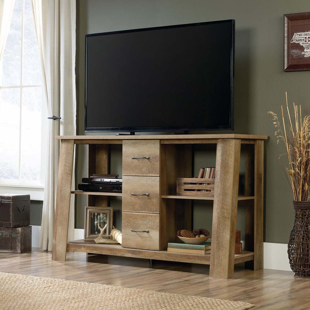 Boone Mountain Credenza - Craftsman Oak - Lifestyle -TV Not Included
