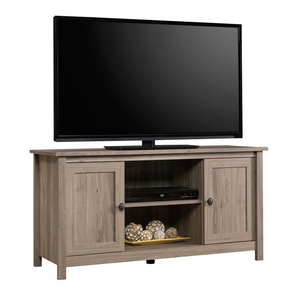 County Line Panel TV Stand - Salt Oak - TV Not Included
