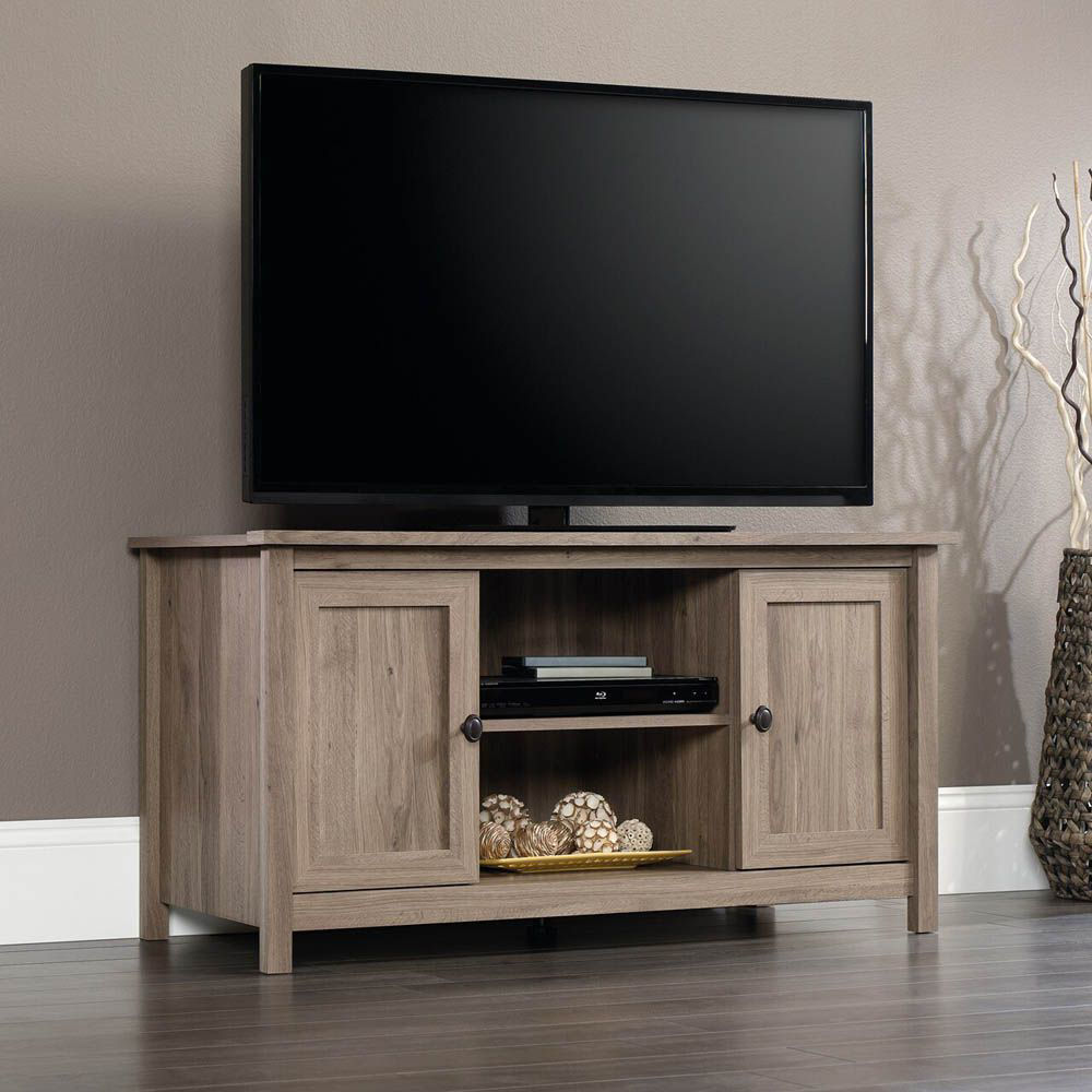 County Line Panel TV Stand - Salt Oak - TV Not Included - Lifestyle