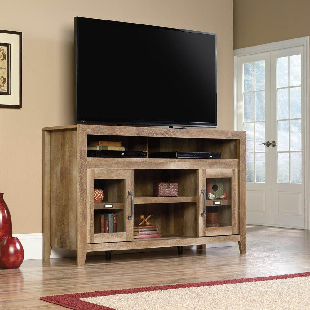 Dakota Pass Entertainment Credenza - Craftsman Oak - TV Not Included - Lifestyle