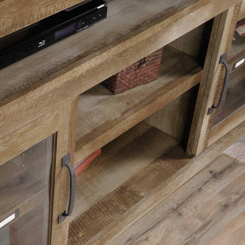 Dakota Pass Entertainment Credenza - Craftsman Oak - Shelfs