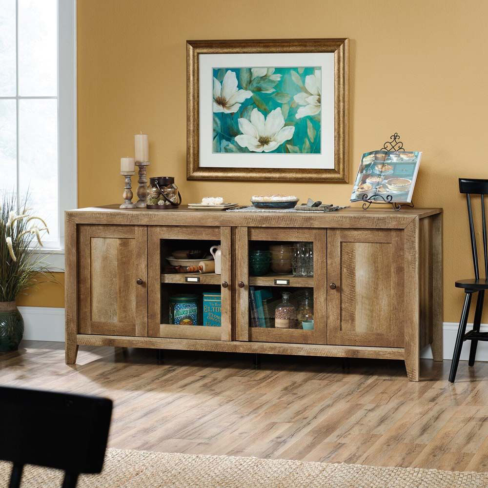 Regent Place TV Stand - Craftsman Oak - Accessories Not Included - Lifestyle