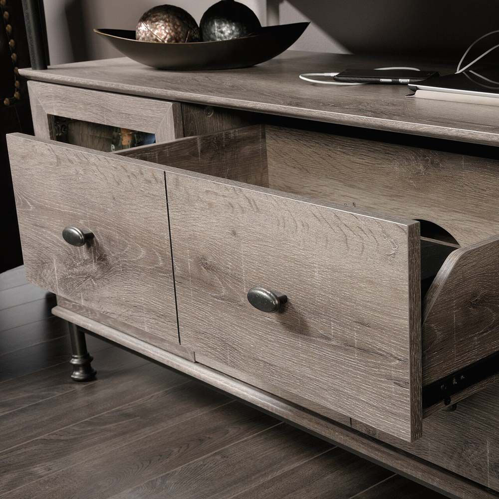 Canal Street Entertainment Credenza - Northern Oak - Drawers