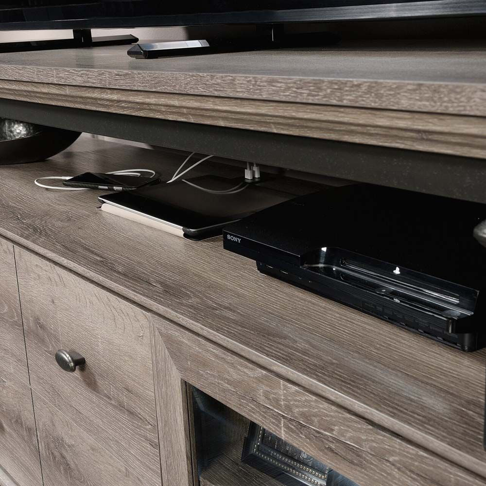 Canal Street Entertainment Credenza - Northern Oak - Shelf