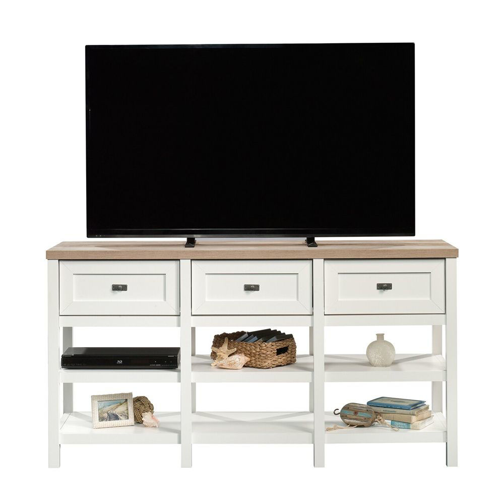 Cottage Road Entertainment Credenza - Soft White - TV Not Included