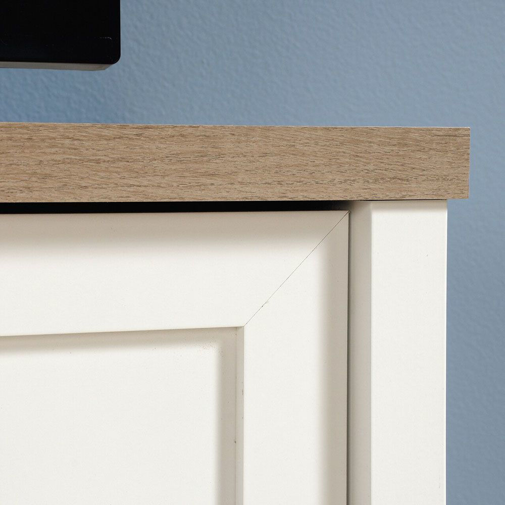 Cottage Road Entertainment Credenza - Soft White - Corner