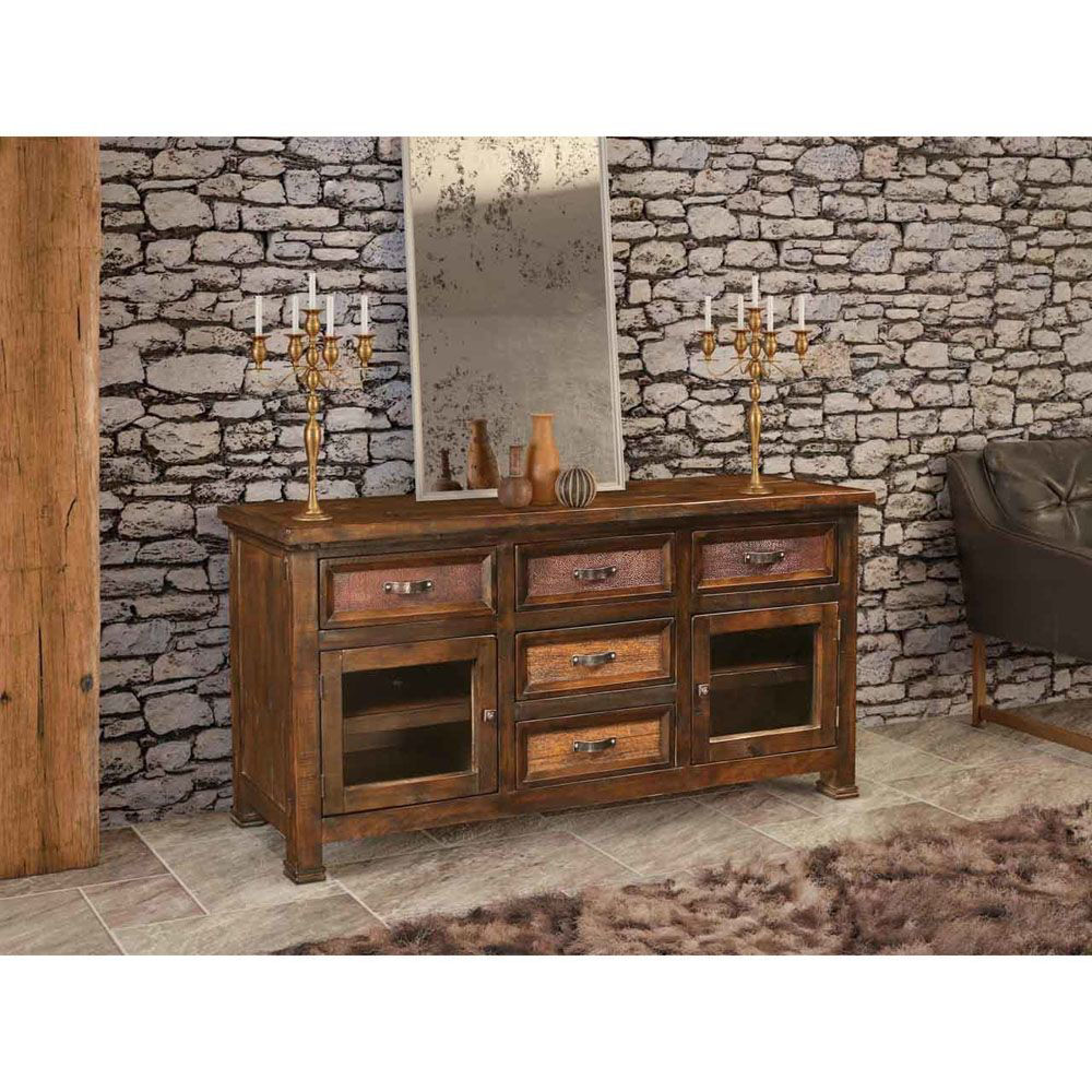 """66"""" Hammered Copper Console - Lifestyle"""