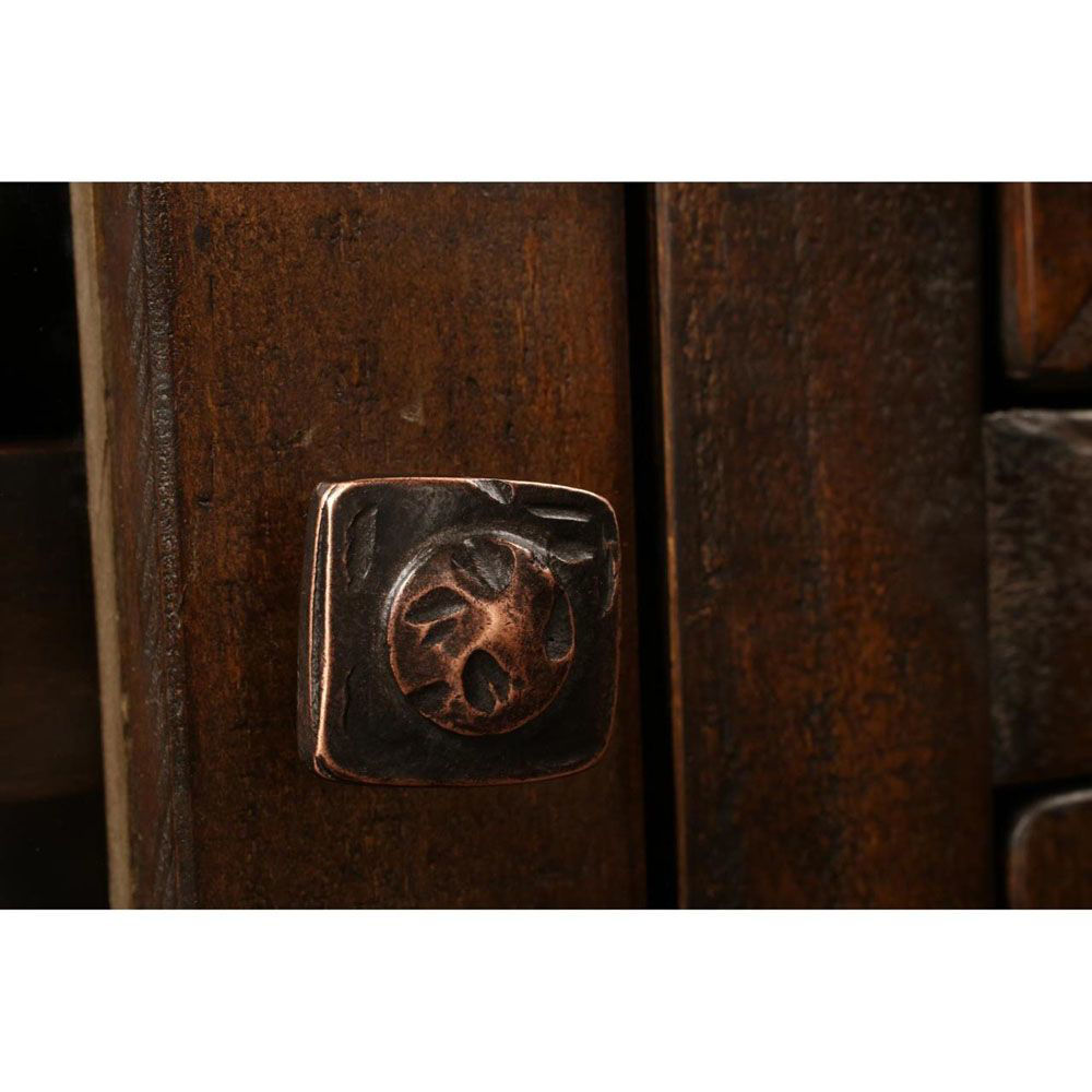 """66"""" Hammered Copper Console - Knob"""