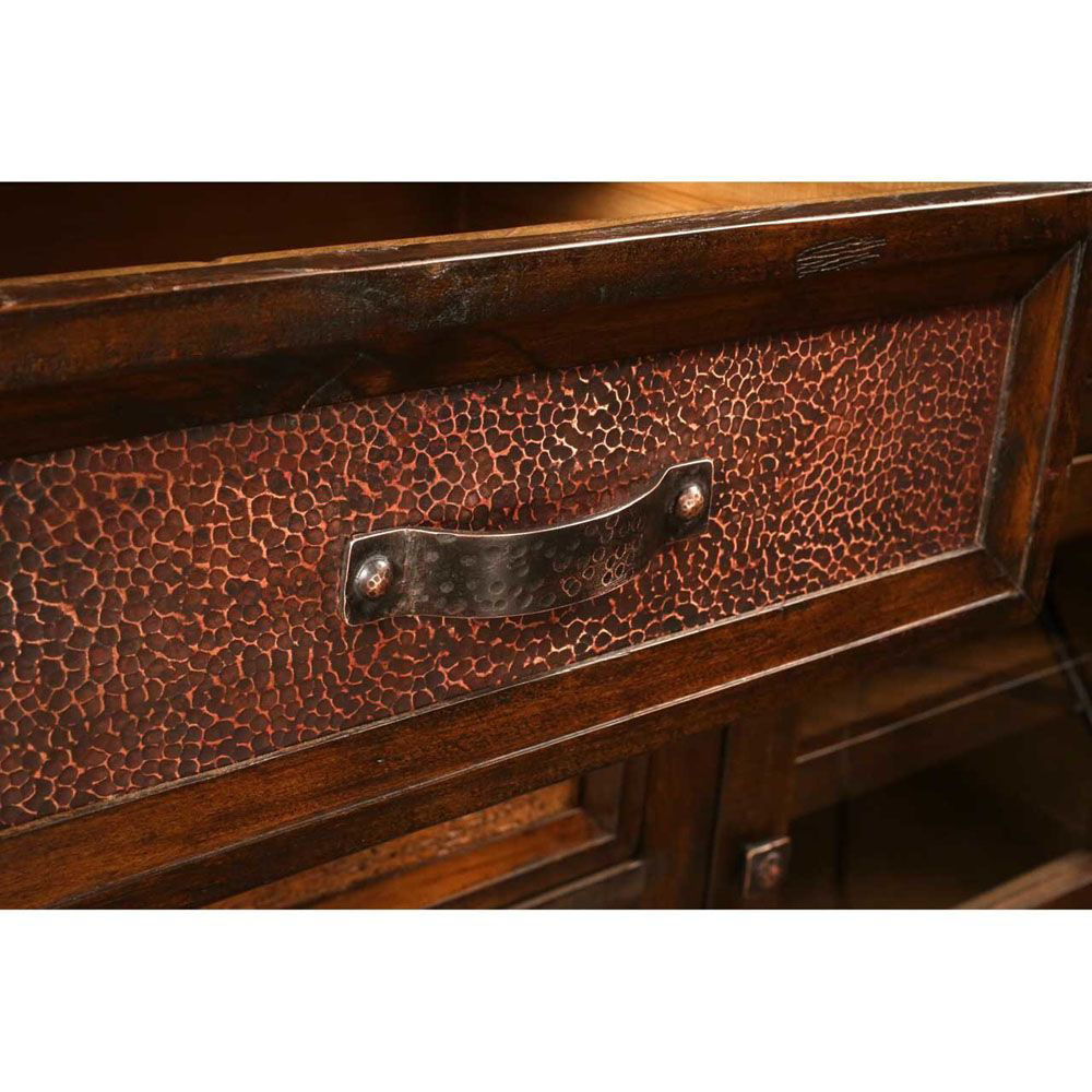 """66"""" Hammered Copper Console - Handle"""