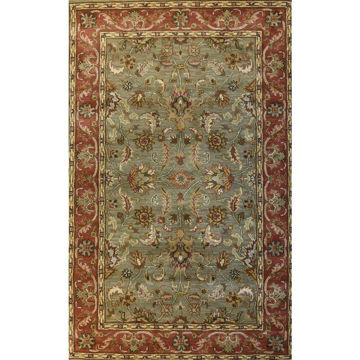 Desert Rose and Aloe Botanical Hand-Tufted Traditional Wool Rug