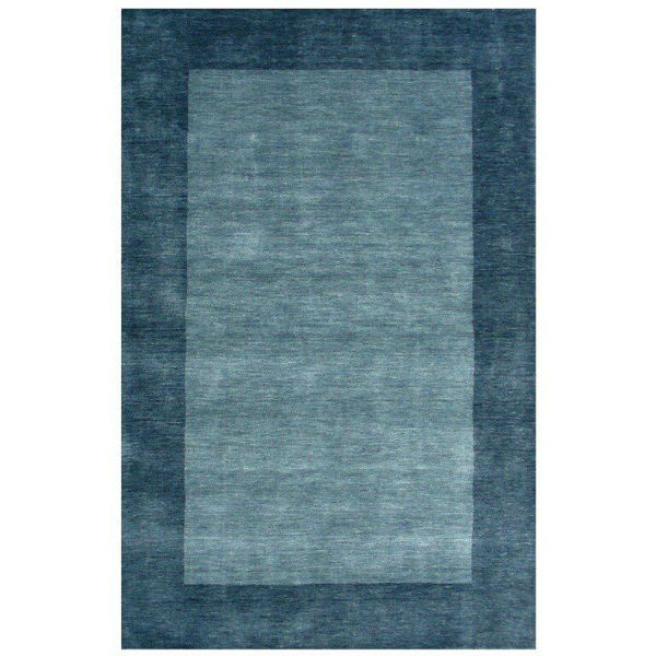 Cerulean Hand-Tufted Transitional Wool Rug