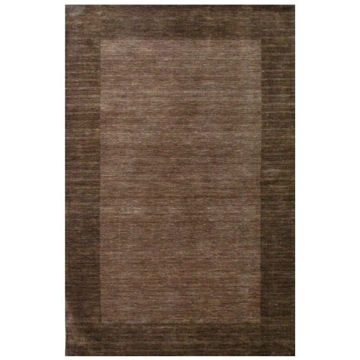 Chocolate Brown Hand-Tufted Transitional Wool Rug