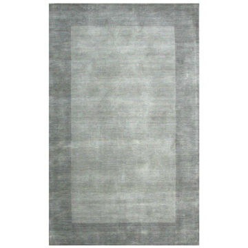 Silver Gray Hand-Tufted Transitional Wool Rug