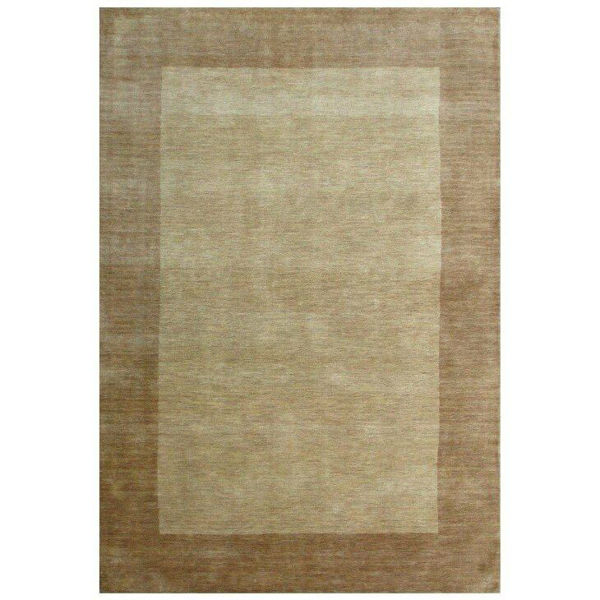 Sandy Tan Hand-Tufted Transitional Wool Rug