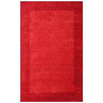 Cranberry Red Hand-Tufted Transitional Wool Rug