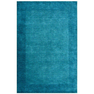 Blue Green Hand-Tufted Transitional Wool Rug