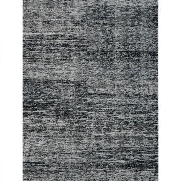 Black and White Hand-Woven Contemporary Wool Dhurries Rug