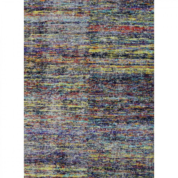 Multi-Colored Hand-Woven Contemporary Wool Dhurries Rug