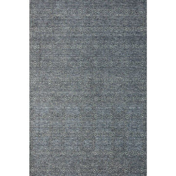 Charcoal Gray Machine Made Traditional Wool Rug