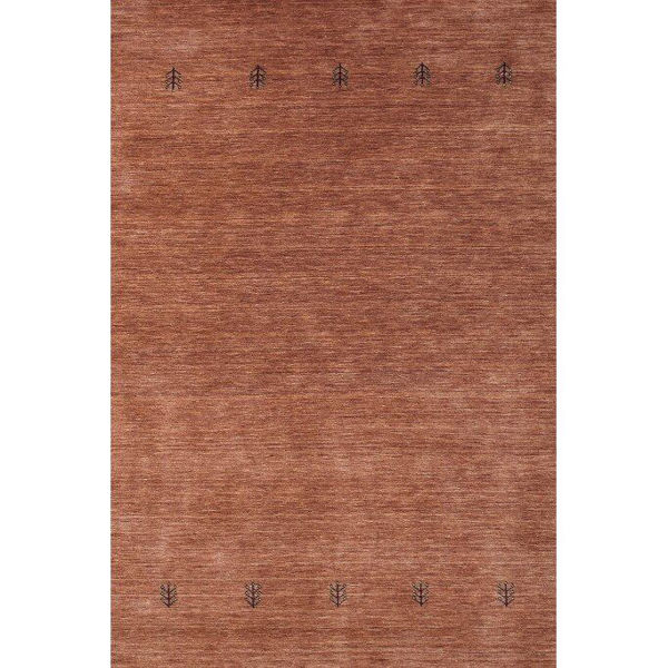 Terra Cotta Hand-Knotted Southwestern Wool Rug